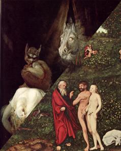 """Bilder """"Nachtmahr"""" und """"Adam und Eva im Garten Eden"""" aus Wikipedia"""